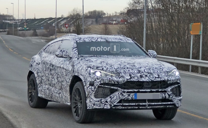 2018 lamborghini. unique lamborghini 2018 lamborghini urus suv spotted testing ahead of official debut intended lamborghini o