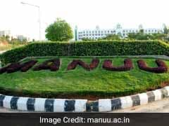 Maulana Azad National Urdu University (MANUU) Admission 2017-18 Open: Apply Now