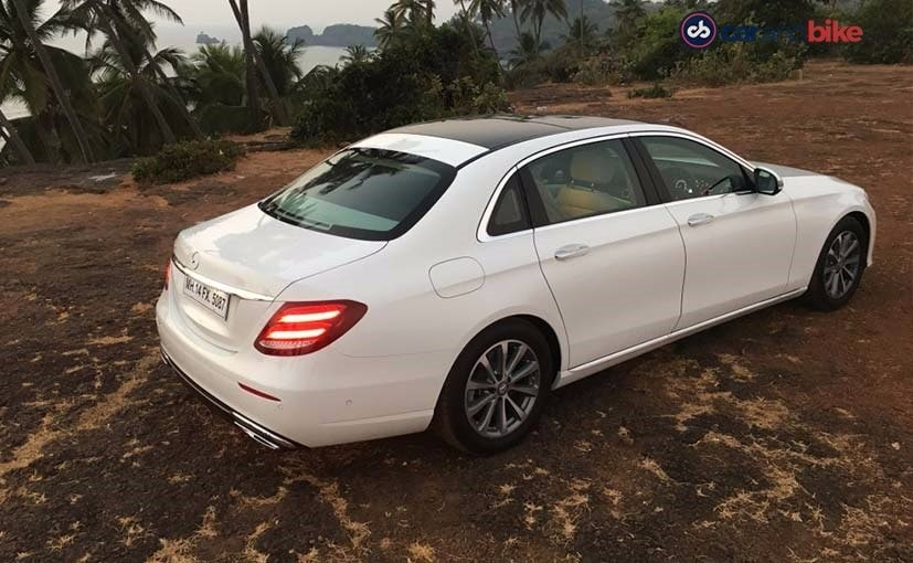 new mercedes benz e class rear quarter