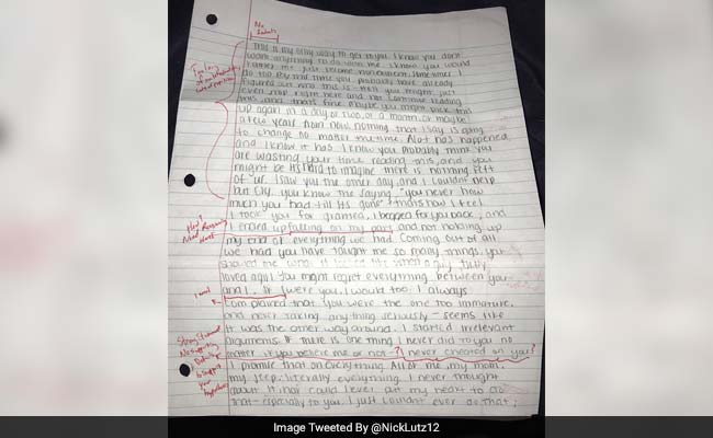 College Student Grades ExGirlfriends Apology Letter And Its Brutal