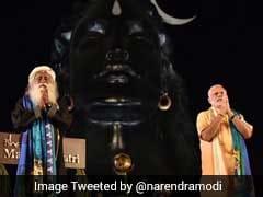 On Maha Shivaratri PM Modi Unveils 112 Feet Lord Shiva Bust
