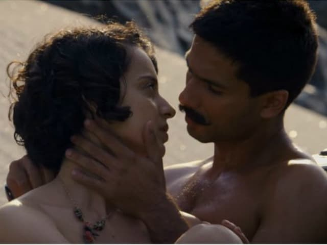 Kangana Ranaut On Kissing Shahid Kapoor And Intimate Scenes