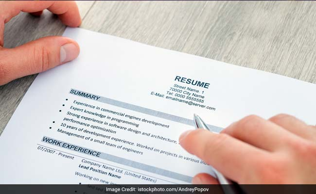 NDTV.com  How To Make Your Resume