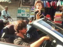 Viral: Shah Rukh Khan Drives AbRam Around Mumbai. The Internet Loves It