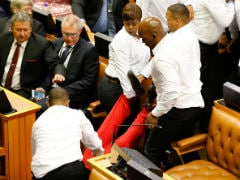 Brawl Breaks Out Between Guards And Lawmakers In South African Parliament