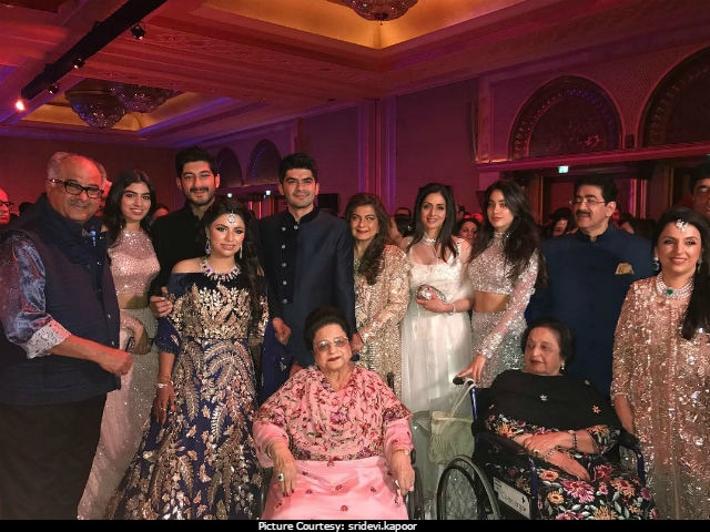 Sridevi, Daughters Jhanvi And Khushi, Sonam And The Kapoors At Big Fat Abu Dhabi Wedding