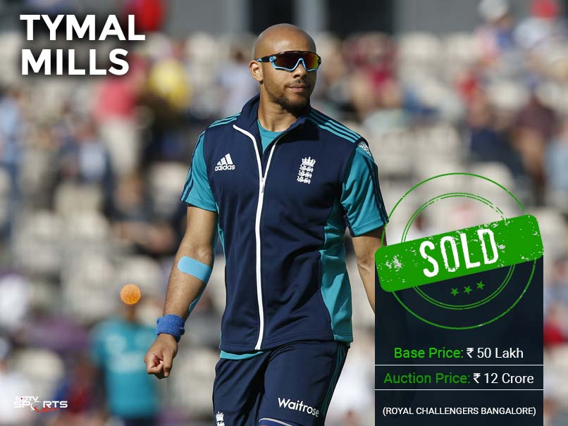 tymal mills ipl auction ndtv