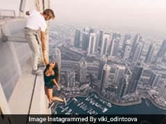 Russian Model Dangles From Dubai Skyscraper In Superb Yet Terrifying Pic