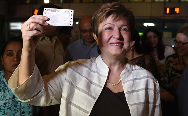 World Bank CEO Kristalina Georgieva Travels In A Mumbai Local Train