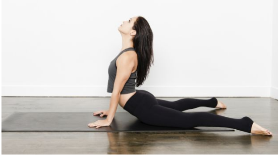 Yoga For Glowing Skin Though Its A Relaxing Cobra Pose That Helps To Reduce Tension