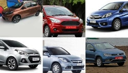 Tata Tigor vs Maruti Swift Dzire vs Honda Amaze vs Hyundai Xcent vs Ford Aspire vs VW Ameo: Spec Comparison
