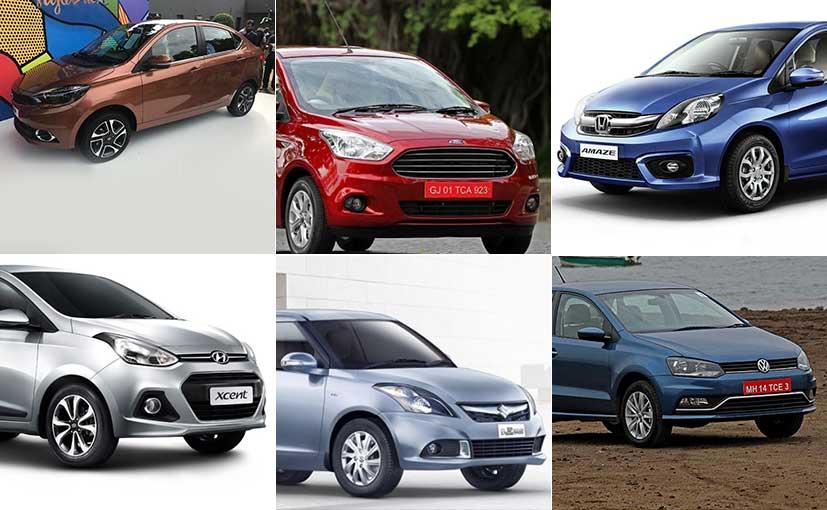 Tata Tigor vs Maruti Swift Dzire vs Honda Amaze vs Hyundai Xcent vs Ford Aspire vs VW Ameo: Spec Comparison