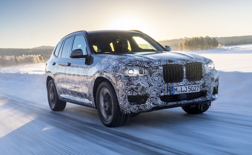 2018 bmw x3 officially teased in new images during cold weather testing ndtv carandbike. Black Bedroom Furniture Sets. Home Design Ideas