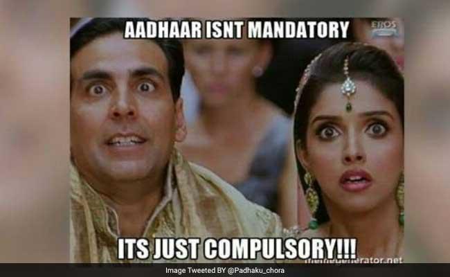 #AadhaarMemes Trend On Twitter To Protest Against Compulsory Aadhaar Cards