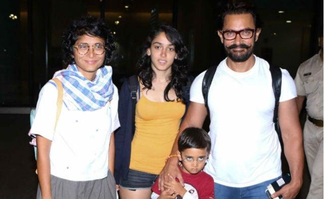 एक साथ बहुत कम दिखता है आमिर खान का परिवार, देखें क्यूट तस्वीरें