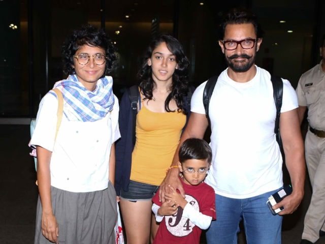 Aamir Khan's Family Pics With Kiran Rao, Ira And Azad Are Too Adorable To Miss