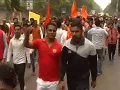 ABVP Holds 'Protest March' In Delhi University