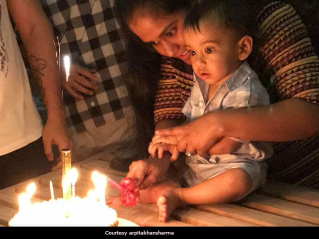 Salman Khan's Nephew Ahil Celebrates First Birthday In Maldives. See Pics And Videos