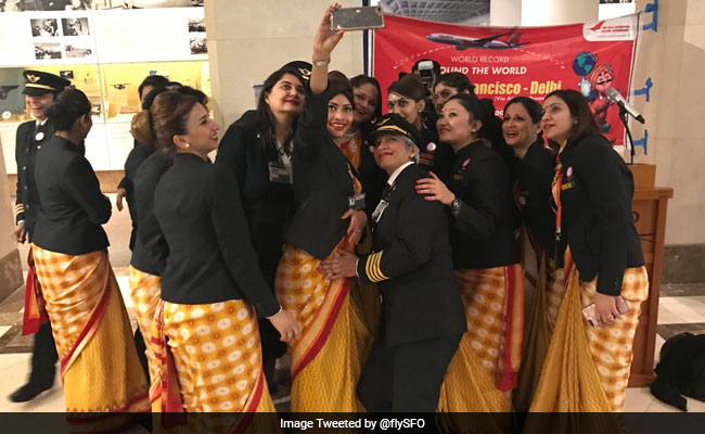 Air India Says All-Woman Flight To San Francisco And Back Is New World Record
