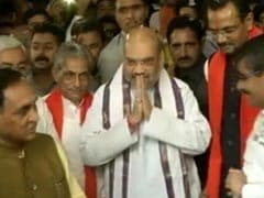 Amit Shah, With Wife And Son, Arrives In Gujarat Assembly To Big Welcome