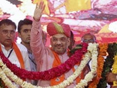 Amit Shah's Gets Big Welcome On Return To Gujarat Assembly After 2 Years