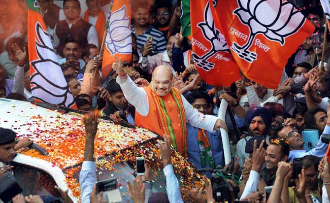 amit shah victory rally