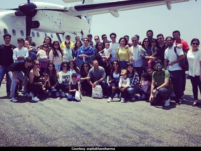 Salman Khan's Sister Arpita Shares Pic With Ahil's Birthday 'Crew'