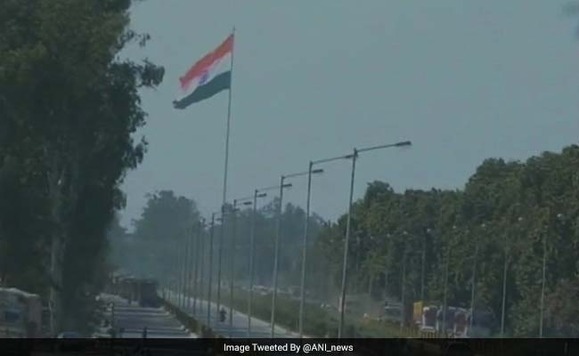 Largest Flag Inaugurated On India's Tallest Post At Attari Border
