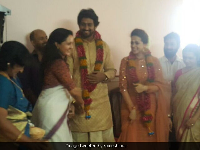 Actress Bhavana And Producer Naveen Are Engaged. See Pic