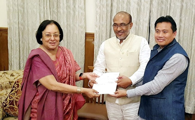 BJP's N Biren Singh Invited To Form Government In Manipur. Oath Today