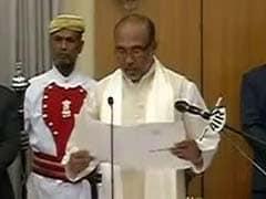 मणिपुर में पहली बार बीजेपी सरकार, बीरेन सिंह ने मुख्यमंत्री पद की ली शपथ