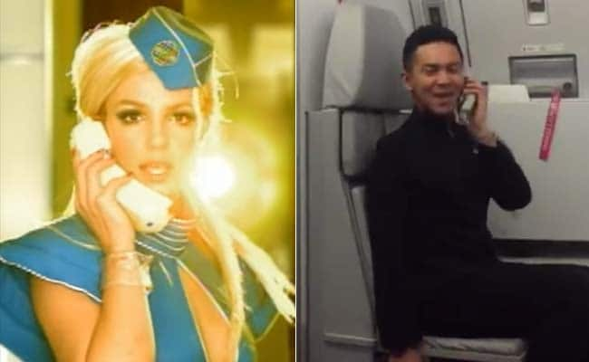 Flight Attendant Recreates Britney Spears' Toxic In Video Gone Viral