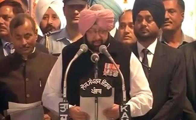 कैप्टन ने दूसरी बार पंजाब की संभाली कमान, नवजोत सिंह सिद्धू बने कैबिनेट मंत्री
