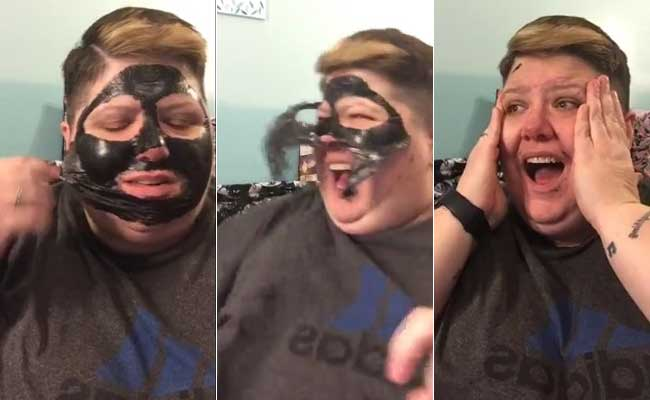 Viral Video Of Woman Removing Charcoal Mask Is As Funny As It Is Painful