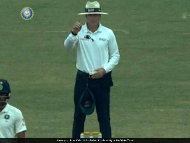 India Vs Australia: Umpire Chris Gaffaney Gives Cheteshwar Pujara A Scare