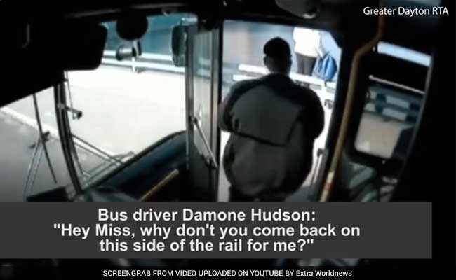 Watch: Bus Driver In Ohio Pulls Over On Bridge To Stop Woman From Jumping