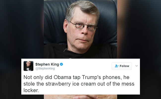 Stephen King Trolls Donald Trump For His 'Wire Tapping' Allegations