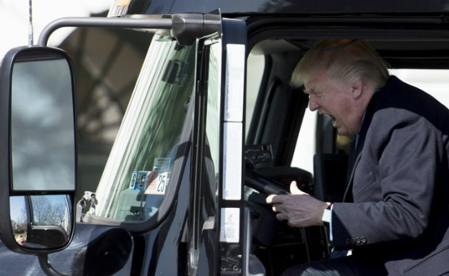 Image result for donald trump truck