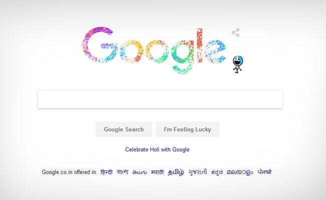हैप्पी होली: Google ने Doodle के ज़रिये रंगभरे त्योहार को बनाया खास