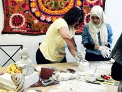 Youthful Immigrant Lifes In Greece Gets Taste Of Art And Sport