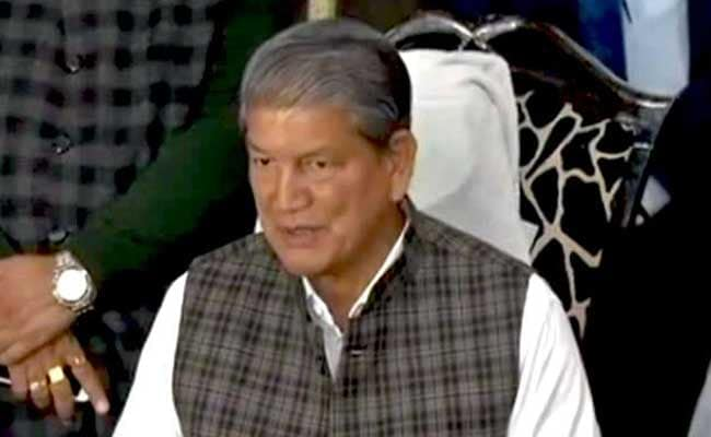 Harish Rawat Escapes Unhurt After Vehicle Hits Him