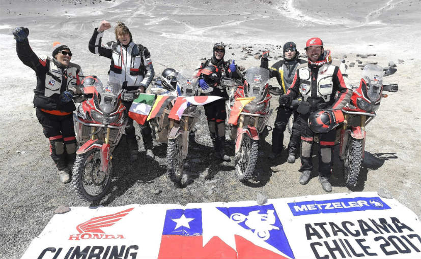 honda africa twin altitude world record team