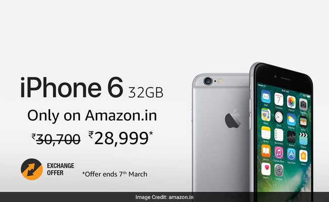 The iPhone 6 32GB variant scheme is open till March 7, 2017, Amazon India's website said.