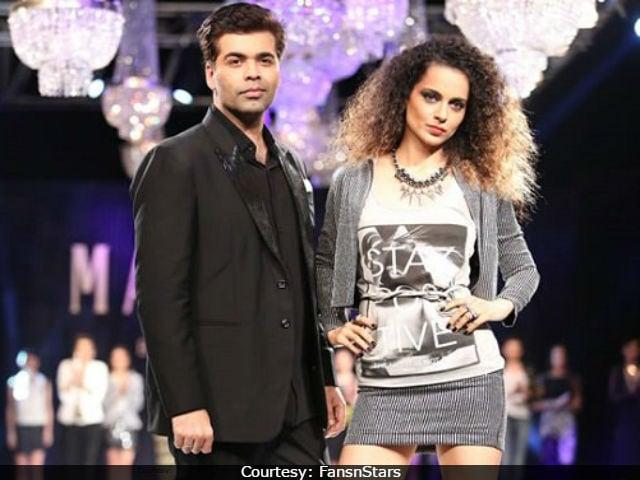 Karan Johar Is 'Done' With Kangana Ranaut 'Playing The Victim Card'