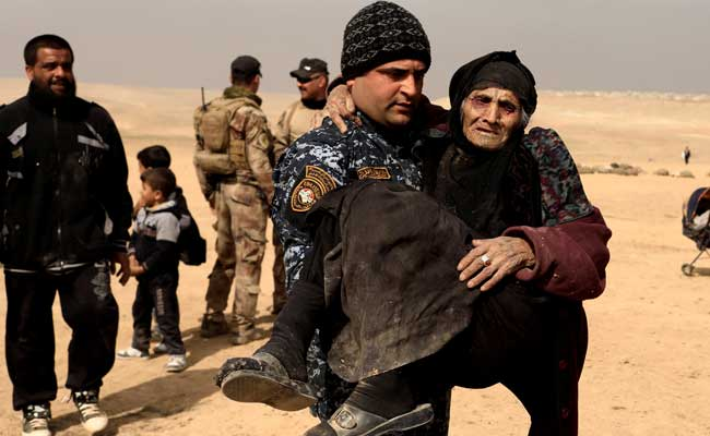 'I've Never Seen Such War' Says 90-Year-Old Rescued From Mosul