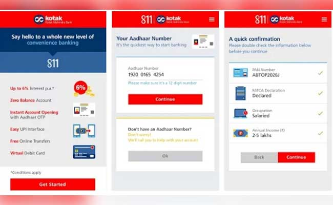 Kotak Bank Launches 811 Zero Balance Zero Charge Account Details