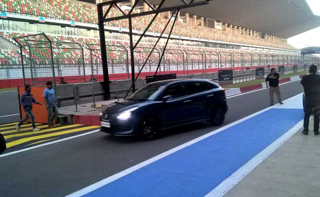 kranti sambhav at bic racetrack with baleno rs