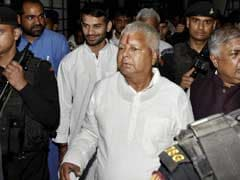 Lalu Prasad Yadav Suffers Minor Injury After Stage Collapses In Patna