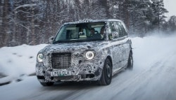 New London Taxi Electric Cabs Spotted Testing In Cold Weather
