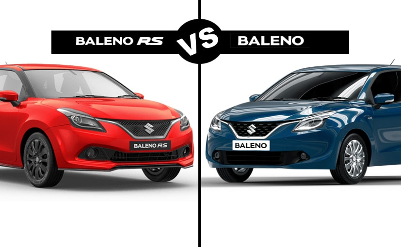 Maruti Suzuki Baleno VS Baleno RS Exterior Differences